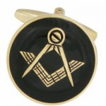 Black masonic cufflinks