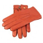 Dents mens brown leather gloves