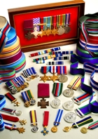 Minature medals and ribbons