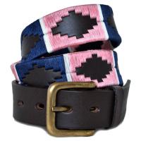 Pioneros Pink/Navy White Stripe Polo Belt