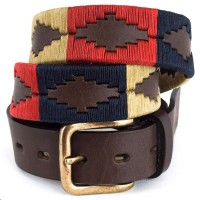 Pioneros Navy/Cream/Red Polo Belt
