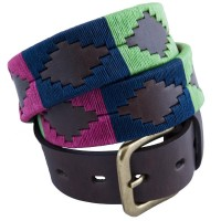 Pioneros Green/Navy/Cerise Polo Belt